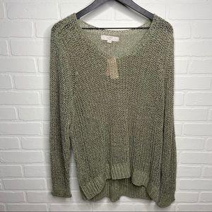 Loft Plus Size green loose knit sweater size 20/22
